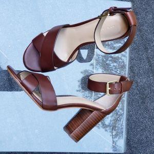 "Ann Taylor ""Liya"" Open Toe Block Heel Sandal"